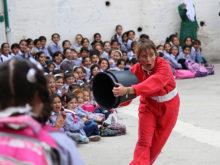 Clowns Without Borders Project in West Bank - 2013