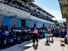 Clowns Without Borders Project in Haiti -